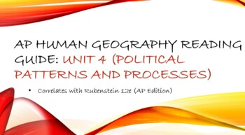 AP Human Geography Unit 4 Reading Assignment (Rubenstein)