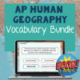 AP Human Geography Vocabulary Boom Cards™ Bundle