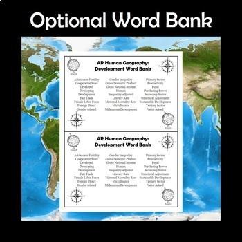 AP Human Geography Vocabulary Crossword Puzzle Bundle