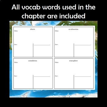 AP Human Geography Vocabulary Squares Bundle for the Entire Year