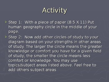 AP Human Geography: What is Human Geography Part 1