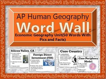 AP Human Geography Word Wall BUNDLE