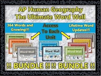 AP Human Geography Word Wall MEGA BUNDLE