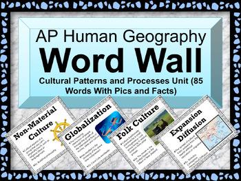 AP Human Geography Word Wall (Folk and Popular Culture)