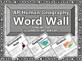 AP Human Geography Word Wall (Language)