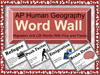 AP Human Geography Word Wall (Migration)