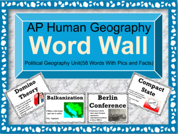 AP Human Geography Word Wall (Political Geography)