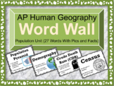 AP Human Geography Word Wall (Population)