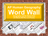 AP Human Geography Word Wall (Unit 1 Geography)