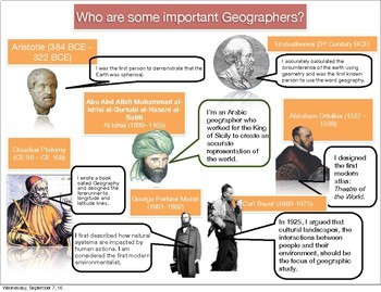 AP Human Important Geographers