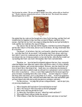 AP Hundred Years War and War of the Roses: Joan of Arc