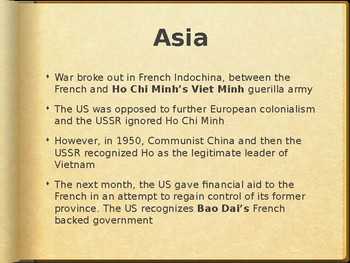 AP - IB Asia and Indochina Powerpoint (1943-1953)
