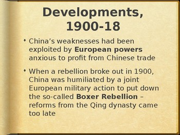 AP - IB Chinese Civil War #1 Powerpoint Preview