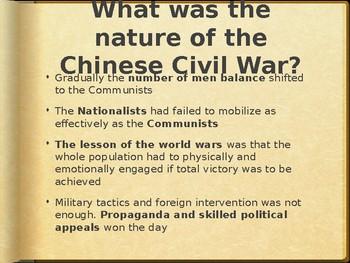 AP - IB Chinese Civil War Powerpoint #2