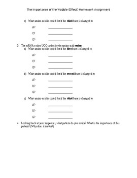 AP/IB  The Wobble Effect Homework Assignment