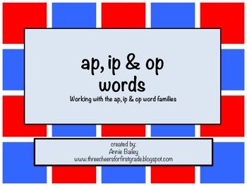 AP, IP & OP Word Study Sort and Activities