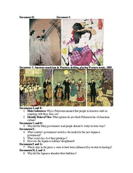 AP Imperialism: Abandoning the Past: The Westernization of Japan DBQ