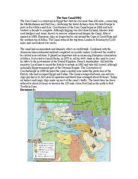 AP Imperialism: The Suez Canal DBQ