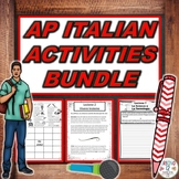 AP Italian Activities BUNDLE