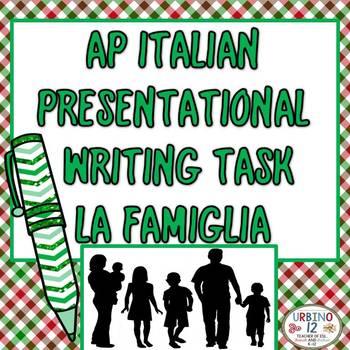 AP Italian La Famiglia Presentational Writing Task