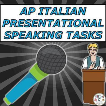 AP Italian Presentational Speaking Tasks BUNDLE