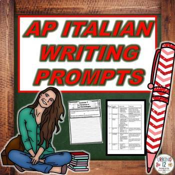 AP Italian Writing Prompts BUNDLE
