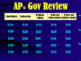 AP* Government Test Review Game (editable)