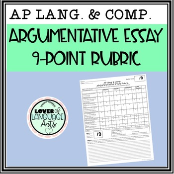 Ap Essay Rubric Worksheets Teachers Pay Teachers