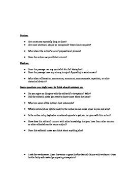 AP Lang & Comp Op-Ed Assignment