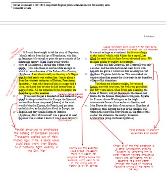 AP Lang Practice - four analysis essay annotation models