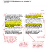 AP Lang Practice - four analysis essay annotation models