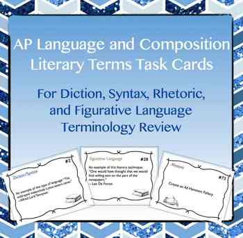 AP Lang and Comp Literary Terms Task Cards