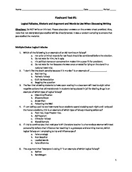 AP Lang and Lit ULTIMATE Vocabulary List TEST Part 1