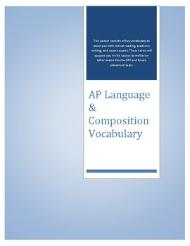AP Language & 11th Grade Key Vocabulary