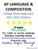 AP Language 2020 College Board Approved Syllabus: links for distance learning