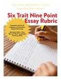6 Trait 9 Point Rubric - Argument (compatible with AP Language)