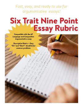 AP Language 6 Trait 9 Point Rubric - Argument