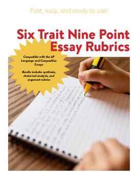 AP Language 6 Trait 9 Point Rubric Bundle