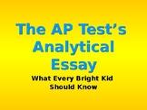 AP Language Analytical Essay PowerPoint