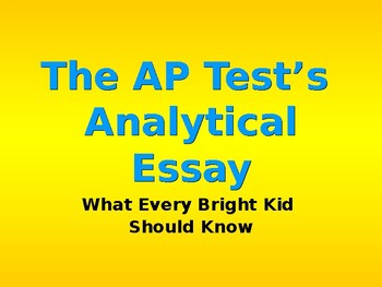 AP Language Analytical Essay PowerPoint