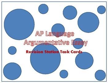 AP Language Argumentative Essay Assessment Task Cards