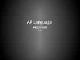 AP Language & Composition - Argument Essay Review