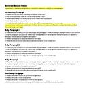 AP Language / Composition  - Essay Outlines & Reflection Piece