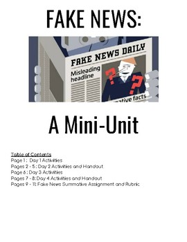 AP Language / Composition - Fake News Mini - Unit