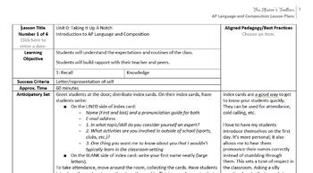 AP English Language & Composition Introductory Unit: Taking It Up A Notch