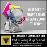 AP English Language & Composition Introductory Unit: Takin