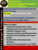 DIGITAL & ORIGINAL AP Language Exam Q2 Prompt Race Masculi