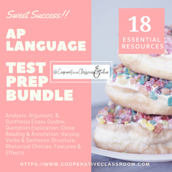 AP Language & Composition TEST PREP BUNDLE!!