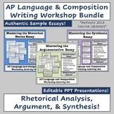 AP Language & Composition Writing Bundle: Analysis, Argume