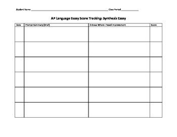 AP Language Essay Score Tracking